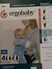 Ergobaby 360 Baby Carrier 4 Position Ergonomic Infant, 12-33 lbs, Azure Blue