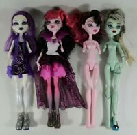 LOT of 4 Monster High Dolls Sold AS IS for PARTS or REPAIR