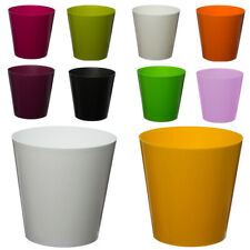 Flower pots, round choice of 12 colours, many sizes plant holder ,HQ plastic