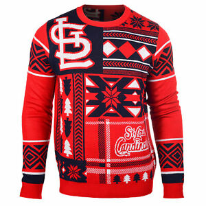 Forever Collectibles MLB Baseball Mens St.Louis Cardinals Patches Ugly Sweater