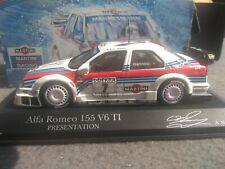 1/43 Minichamps Alfa Romeo 155 V6 TI DTM 95 Presentation Martini Racing Nannini