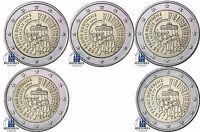 Deutschland 5 x 2 Euro Deutsche Einheit 2015 im Komplettsatz lose Mzz A D F G J
