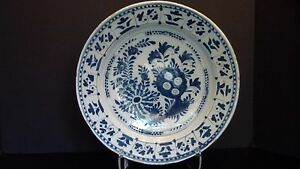 A Large Delft Charger With Flowers