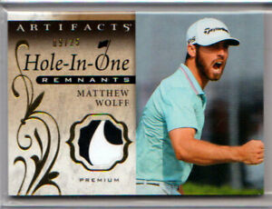 2021 UD Artifacts Golf MATTHEW WOLFF HOLE-IN-ONE PREMIUM PATCH RELIC /25!