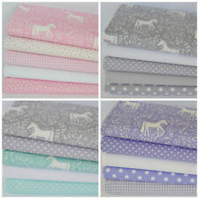 Unicorn silhouette fat quarter bundles 100% cotton fabric for sewing & craft