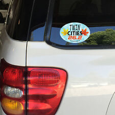 Twin Cities Marathon 26.2 Fall Leaves Removable Window Bumper Sticker