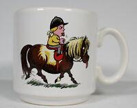 Norman Thelwell Vintage Penelope & Kipper Pony Tongues Out Coffee Tea Mug EUC