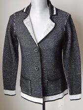 NWT COCOGIO MADE IN ITALY WOOL BLEND DUAL KNIT BUTTON CLOSURE CARDIGAN JACKET M