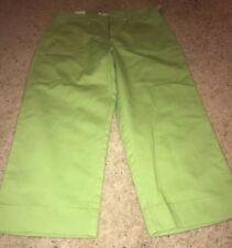 Cherokee Brand Apple Green Stretch 4 Pocket Capri/Crop Pants Sz 12 NWT