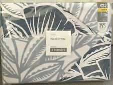 NEXT - TWO SETS OF SINGLE BEDSETS -ASTRID FLORAL DESIGN IN BLUES/WHITE - BNWT