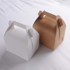 10pcs Colorful Box Wedding Party Candy Cake Gift Boxes Brown And White