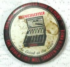 Winchester Antique Sharpining Stone With Advertising on reverse