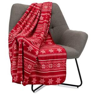 """Celebright Christmas Fleece Throw - 50x60"""" Snuggly Blanket for Bed, Sofa, Couch"""