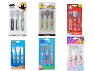 Kids Children Polar Gear 3-Piece Metal Cutlery Set Fork Spoon Knife