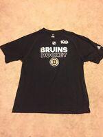 NWT Adidas Climalite NHL Mens Boston Bruins 100th anniversary Hockey Shirt XL