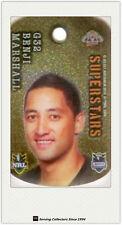 *2010 Select NRL Collectable Stars Tags Gold Tag G32 Benji Marshall (Tigers)
