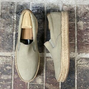 Sperry Top Sider Men Espadrille Tan Beige Slip On Closed Toe Casual Shoes Sz 10