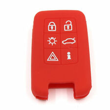 6 Buttons Red Silicone FOB Remote Key Cover Bag Case For VOLVO V40 S80 XC60 V60