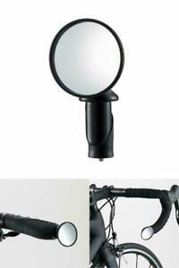 Cateye Rückspiegel BM-45 schwarz für Lenkerende Mini Rennrad MTB Fahrradspiegel