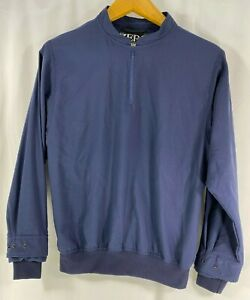 Zero Restriction Women's Blue L/Sleeve 1/4 Zip Windbreaker Pullover Made USA XS