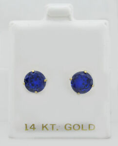 AAA  TANZANITE 4.08 Cts STUD EARRINGS 14K WHITE GOLD ** New With Tag **
