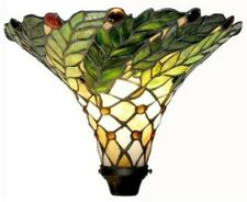 """72"""" Antique Tiffany-style Green Leaf Torchiere Lamp Tiffany Lamps Torch Floor"""