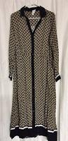 Richard Allen X H&M Button Up Long Sleeve Collared Maxi Dress Size 10 Medium
