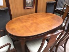 Oval dining table plus 6 chairs