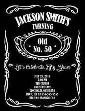 Milestone Birthday Party Invitation 21st 30th 40th 50th Add Photo Jack Daniel