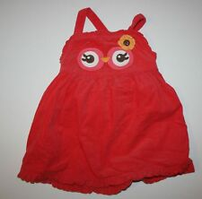 New Gymboree Girls Owl Face Corduroy Jumper Dress 6-12m NWT Panty Included