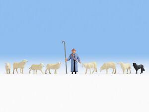 "Noch 45748 Tt Gauge, "" Sheep And Shepherd "" # New Original Packaging ##"