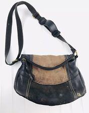 The Sak Brown Leather Crossbody Purse Shoulder Bag Adjustable Strap Flap