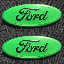 2004 - 2014 FORD F-150 GREEN OVAL FRONT GRILLE & REAR TAIL GATE 9 INCH LOGO SET