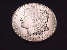 1897-O MORGAN DOLLAR INCREDIBLE AU++ KEY DATE COIN!!   #488