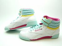 REEBOK FREESTYLE JUNIOR WHITE PINK COOL BREEZE V63067 GIRLS SHOES