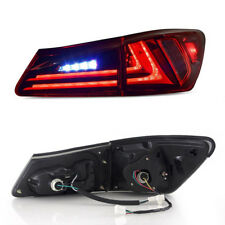 For 2006-2012 Lexus IS250 IS350 IS F Tail lights LED Red Lens Rear Lamp Assembly
