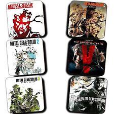 Metal Gear Solid MGS Games 1 2 3 4 5 Peace Walker - Coaster Set Of 6 - Wooden