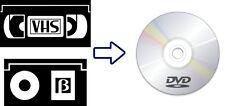 Servizio di CONVERSIONE VHS, Betamax, Video8/Hi8 e MiniDV su DVD o USB
