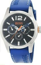 Hugo Boss Orange Mens Wrist Watch 'Paris' Multi Dial Blue Rubber Strap Analogue