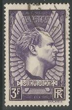 Francia. 1938. 3fr Violeta Gris, Mermoz conmemorativos. SG: 571a. Fino Usado