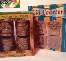 Big Mouth Hawaiian Set of 4 Tiki Mugs w/ Bonus Coasters NIB Accouterments 2002