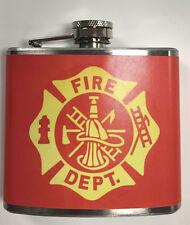 Fire Department Resque 5oz Flask NEW USA SHIPPER!