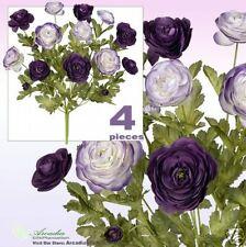 Lot of 48 Ranunculus Flowers Artificial Silk Plant PUTT