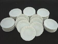 30 x 2.50 cm. White Scalloped Plates Dollhouse Miniatures Ceramic Kitchenware
