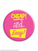 Brainbox Candy Metal Button Badge Pin Funny Rude Cheeky Hen Do Stag Night