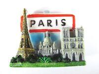 Paris Magnet Reise Souvenir France,Eiffelturm,Sacre Coeur,Notre Dame,Ortsschild
