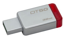 Kingston DataTraveler 50 32GB USB 3.0 Flash Stick Pen Memory Drive - Red