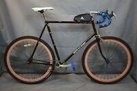 1983 Sekai 2000 Fixed Gear Bike XX-Large 64cm FlipFlop Butted Steel USA Charity!
