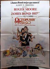 OCTOPUSSY (1983) ORIGINAL ARGENTINA HUGE MOVIE POSTER - JAMES BOND 007