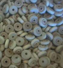 48~1 inch Wood Toy Wheels with Wooden Axle Pegs